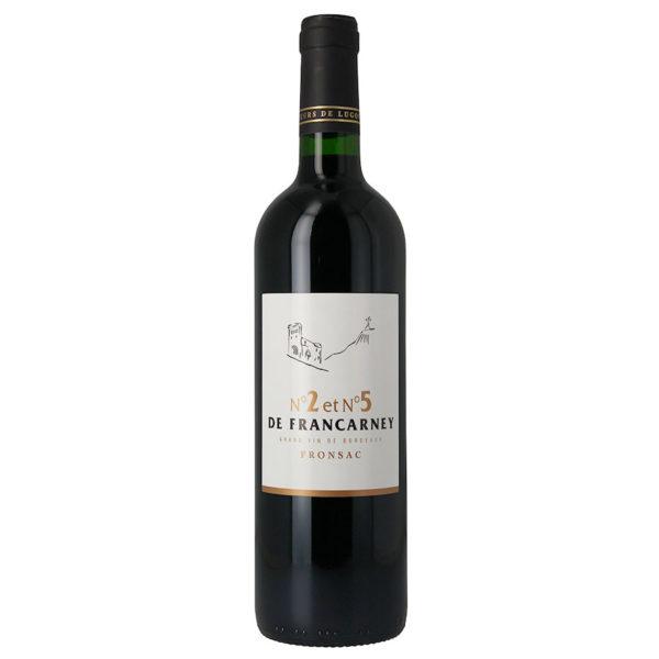 N°2 et N°5 de Francarney<br><span>Rouge 2012 75 cl</span>